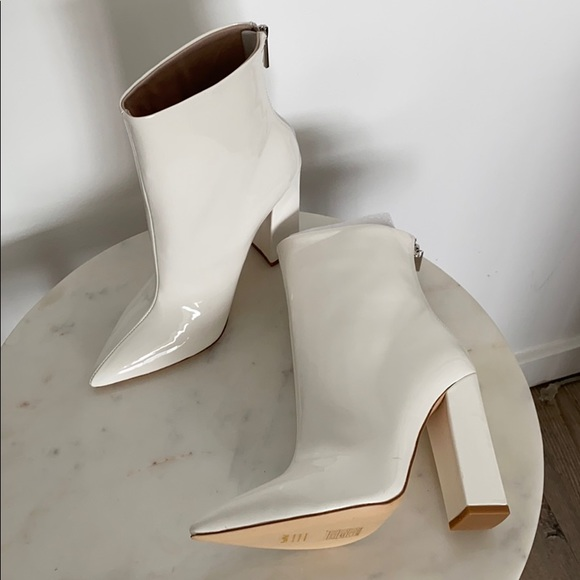 RAYE Shoes | White Patent Boots | Poshmark